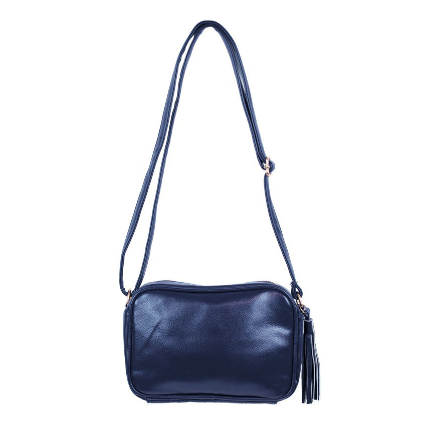 SIMI // 07477 TASSEL SHOULDER BAG BLUE