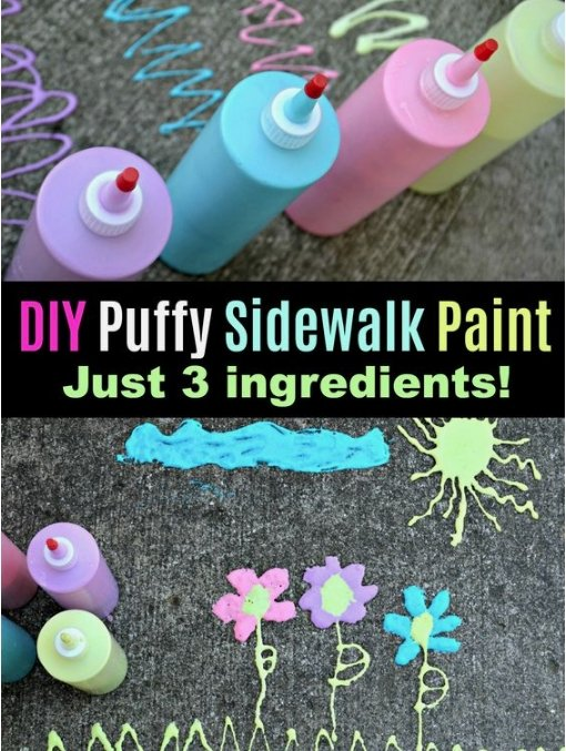 DIY Puffy Side Walk Chalk! | Little Dreamers Club
