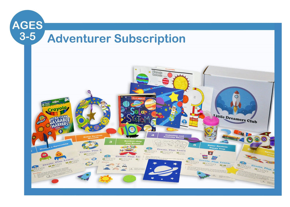 Adventurer Ages 3-5 - Craft Subscription Box for Kids - Little Dreamers Club