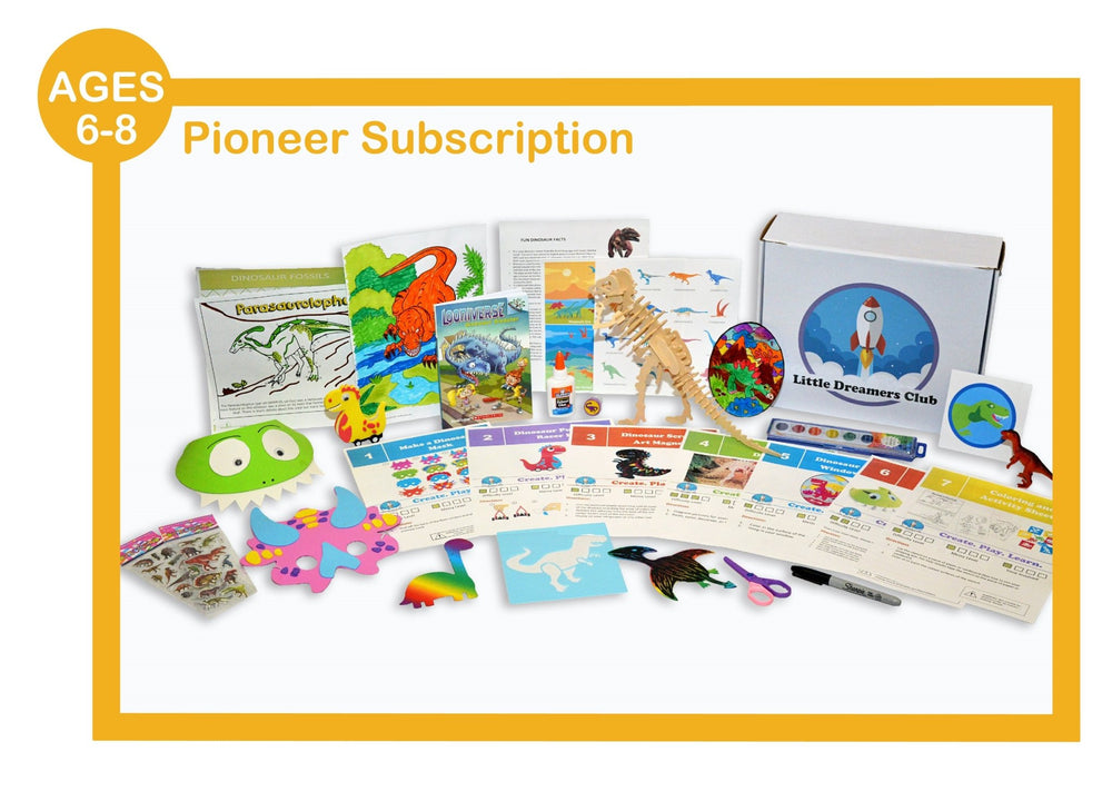 Pioneer Ages 6-8 - Craft Subscription Box for Kids - Little Dreamers Club