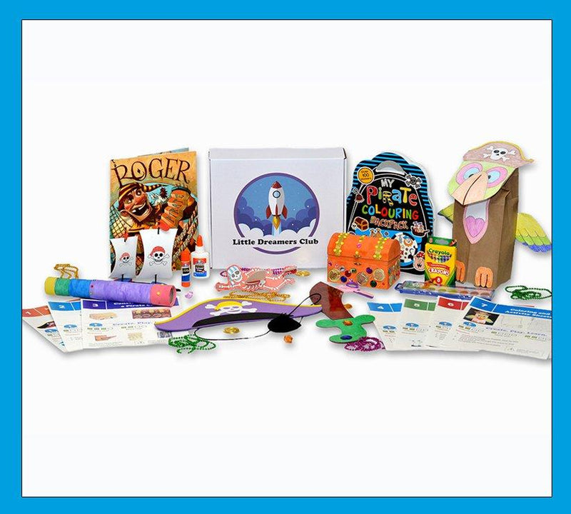 Pirate Adventures Craft Box Ages 3-5 - Little Dreamers Club