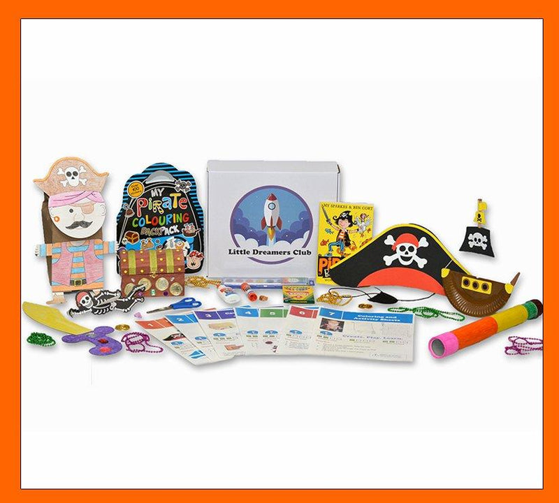 Pirate Adventures Craft Box Ages 6-8 - Little Dreamers Club