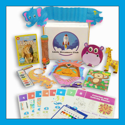 The African Adventures Craft Box Ages 3-5 - Little Dreamers Club