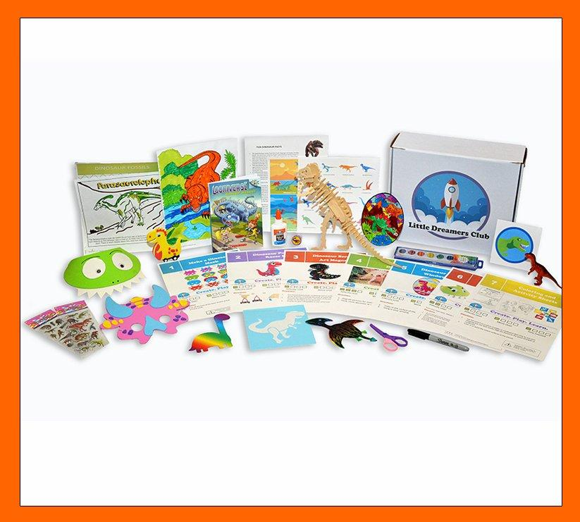 The Dinosaur Craft Box Ages 6 - 8 - Little Dreamers Club