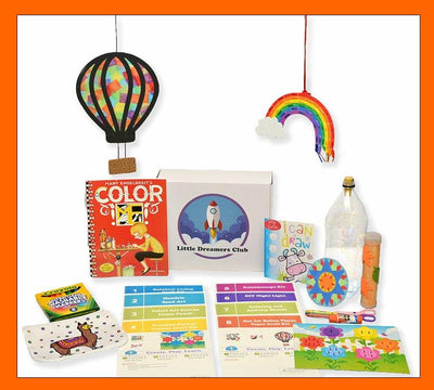 The Fun with Colors Craft Box, Ages 6 - 8 - Little Dreamers Club
