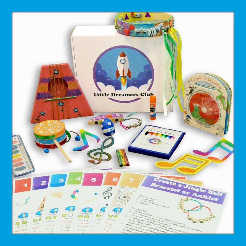 The Make Some Music Craft Box Ages 3-5 - Little Dreamers Club