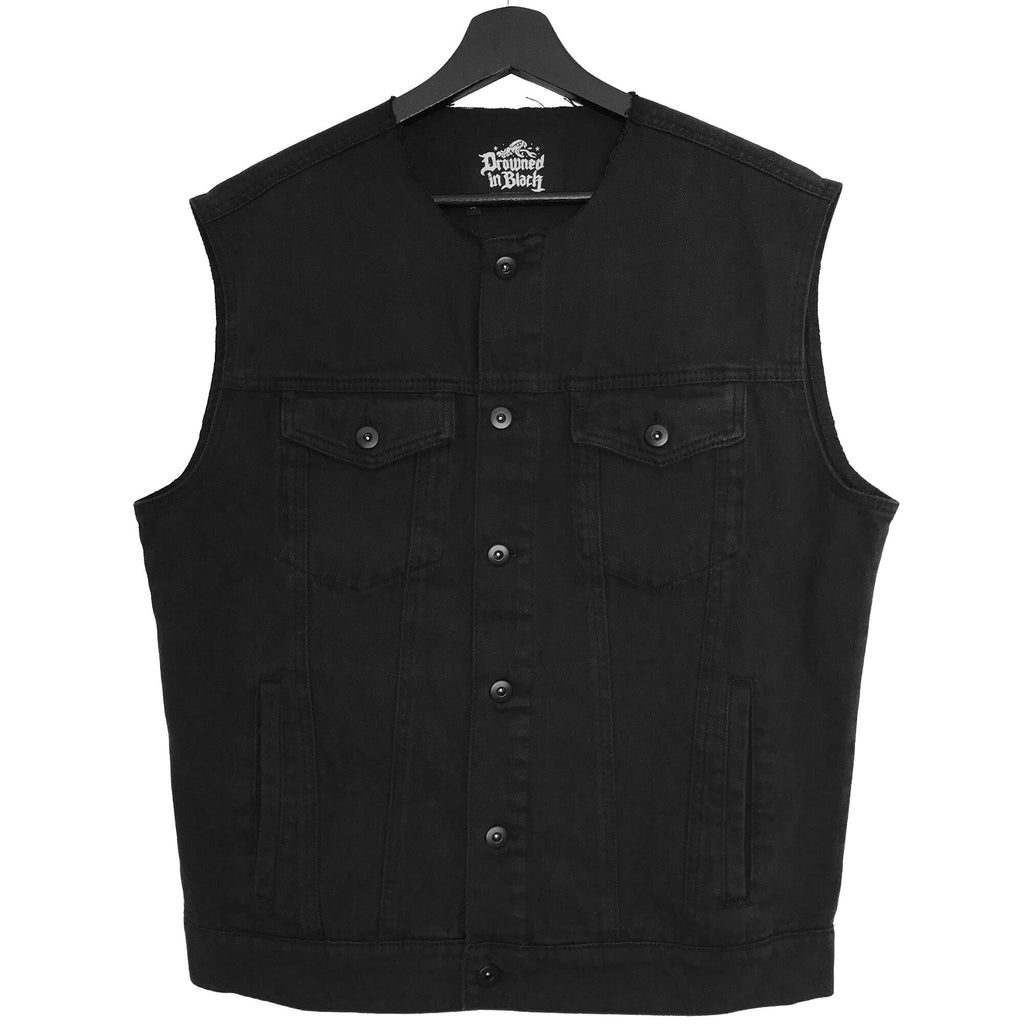 Roughneck Black Denim Vest