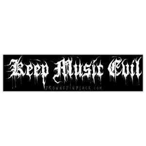 Keep Music Evil Bumper Sticker