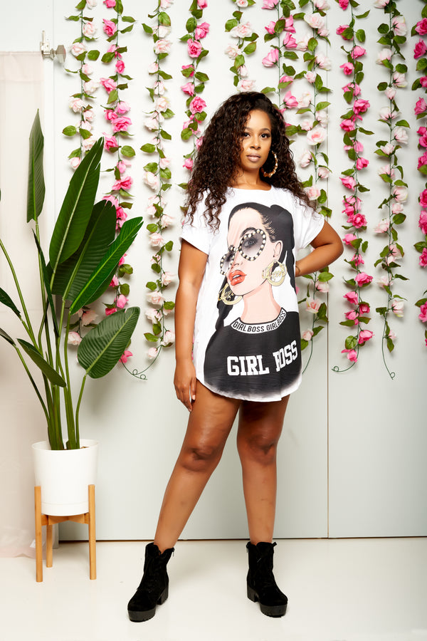 Girl Boss T-Shirt Dress
