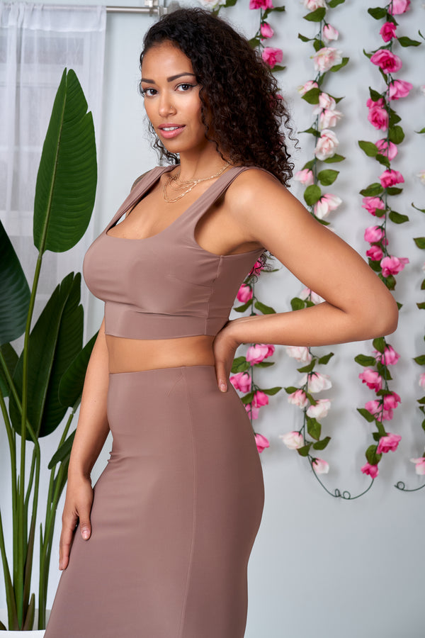 Glam and Sexy Long Skirt and Crop Top  Set - NYCOWLL