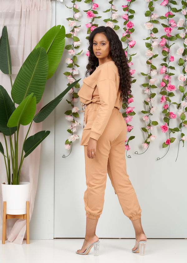 Luxe Essential Jogger Set (Camel)-NYCOWLL