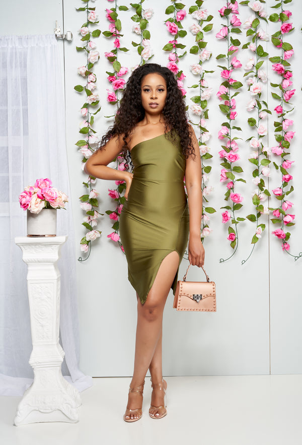 Melorse_One_Shoulder_Satin_Midi_Dress_Olive