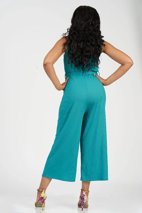 Ms. Teal Jumpsuit