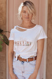 Peach Bellini Cutout Tee - all colours