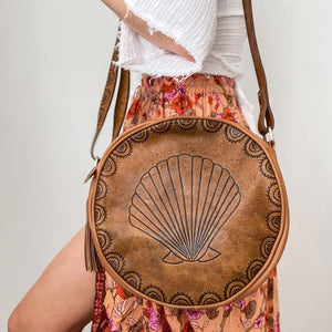 Seashell Bag - Dark Tan