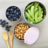 Stainless Steel Round Nesting Containers 3 Piece Pastel Set
