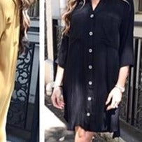 Bailey Midi Shirt Dress Black