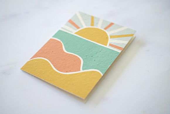 Sunset - Plantable Seeded Paper Greeting Card