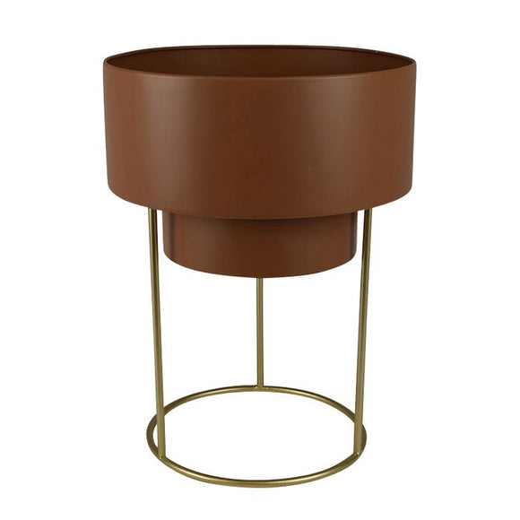 Mathias Metal Planter Rust/Gold