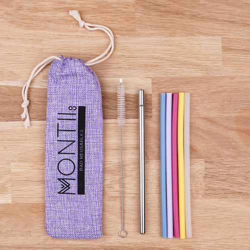 Mini Mellow Silicone Straw Set