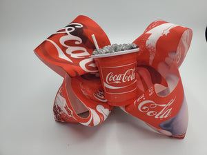 Coca Cola Hair Bow