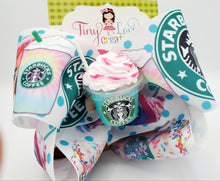 Load image into Gallery viewer, Starbucks hair bow