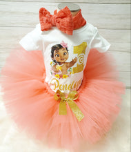 Load image into Gallery viewer, Baby Moana Tutu Set