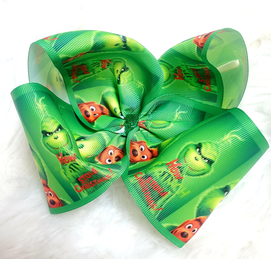 Grinch Boutique Bow