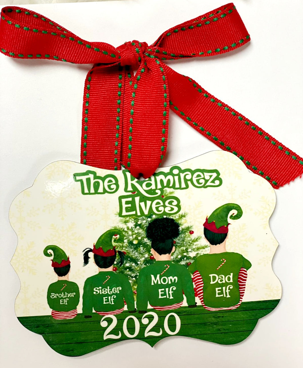 Elves Family  Ornament