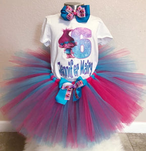 Trolls Birthday Tutu Set