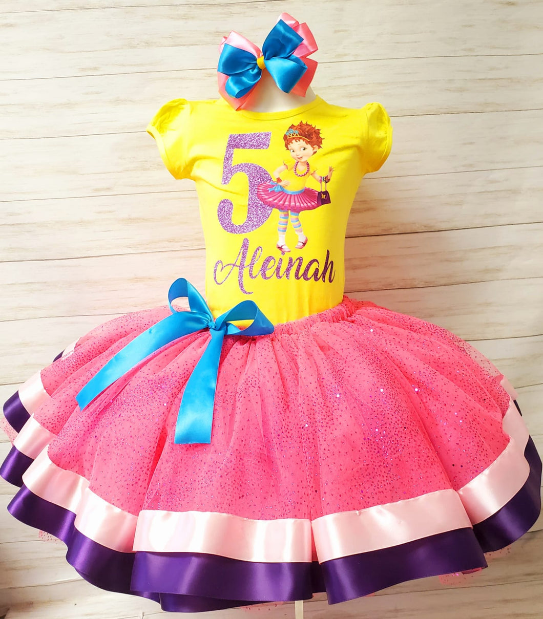 Fancy Nancy Ribbon Trim Tutu