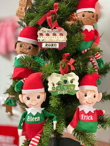 Plaid  Family  Christmas Ornament