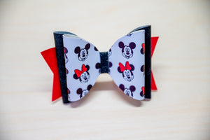 Mickey and Minnie Hair bow