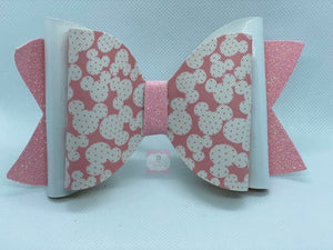 Minnie Mouse Vynil Hair Bow