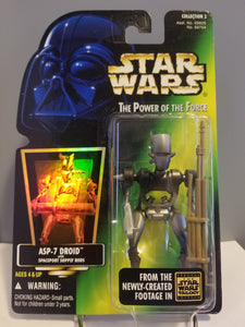 1996 Star Wars POTF2 ASP-7 Droid with Spaceport Supply Rods