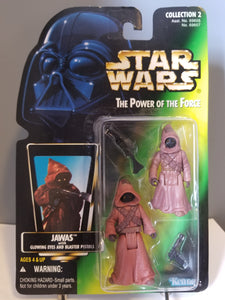 1996 Star Wars POTF2 JAWAS Green Carded Figure