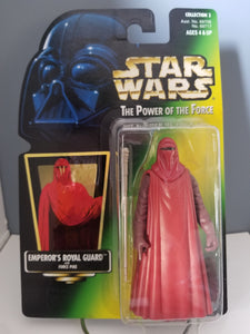 1997 Star Wars POTF2 Imperial Guard Green Carded Figure