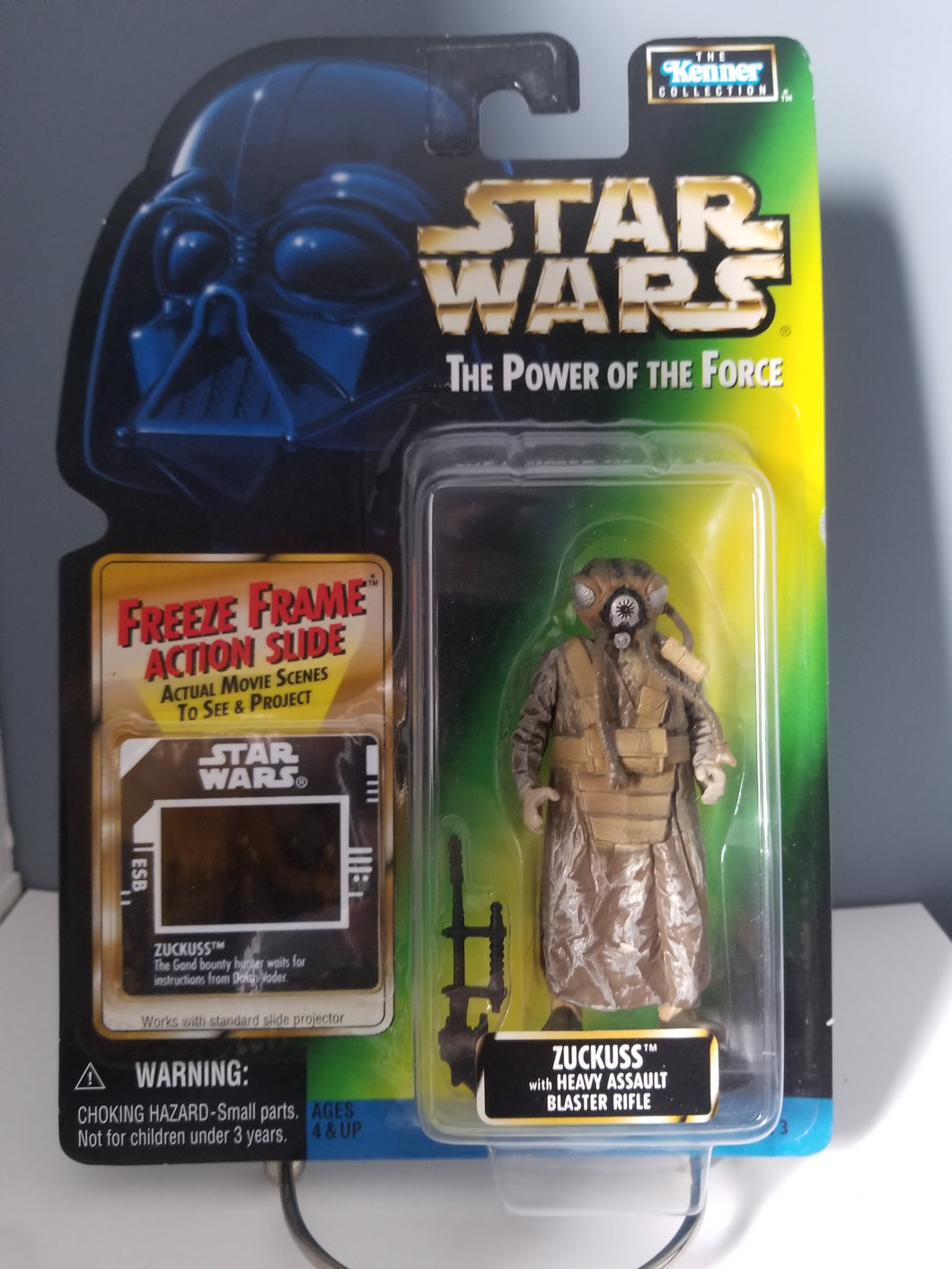 1997 Star Wars POTF2 Zuckuss / 4-LOM Green Carded Figure with Freeze Frame