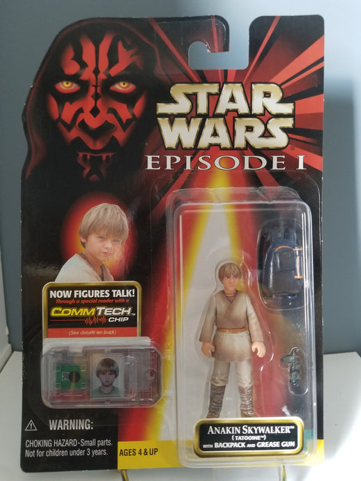 1998 Star Wars Episode 1 Red Carded Anakin Skywalker with CommTech Chip