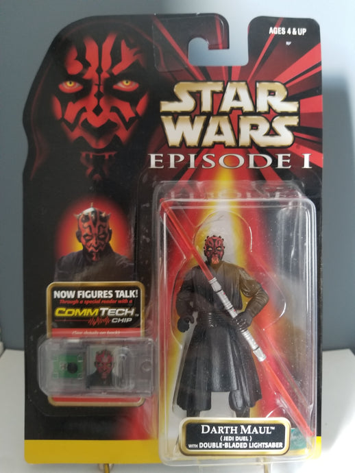 1998 Star Wars Episode 1 Red Carded Darth Maul with CommTech Chip