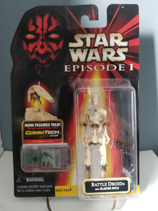 1998 Star Wars Episode 1 Red Carded Battle Droid with CommTech Chip