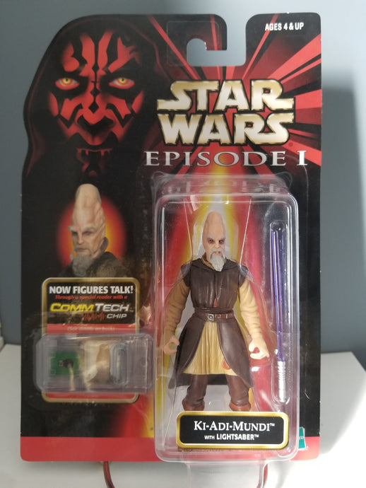 1998 Star Wars Episode 1 Red Carded Ki-Adi-Mundi with CommTech Chip