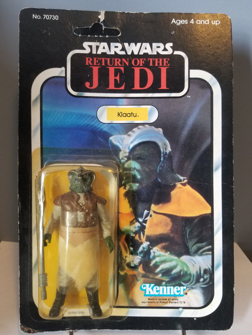 1983 Star Wars Return of the Jedi Carded Klaatu Unpunched