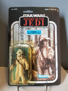 1983 Star Wars Return of the Jedi Carded Logray Ewok Medicine Man