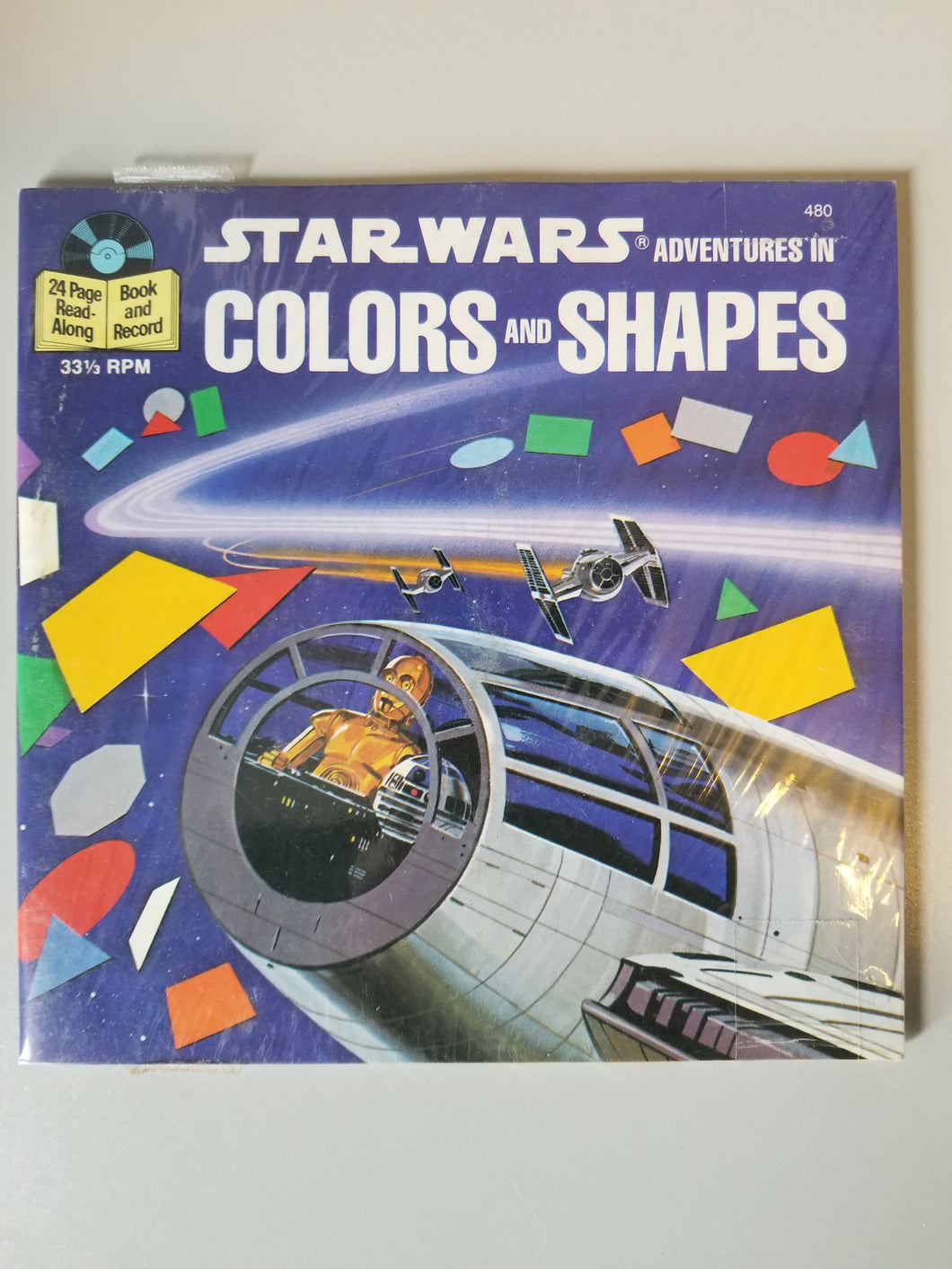 1984 Star Wars Adventures in Colors and Shapes Record and Book