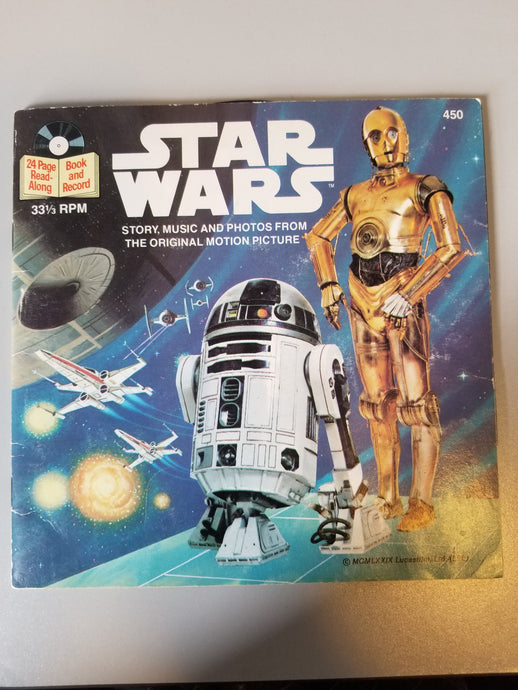 1979 Star Wars Story, Music and Photos from the Original Motion Picture Book and Record