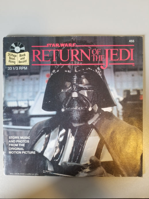 1983 Star Wars Return of the Jedi Story, Music and Photos from the Original Motion Picture Book and Record