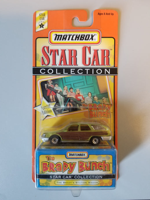 1997 Matchbox Carded Brady Bunch Station Wagon Star Car Collection