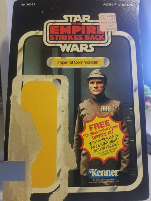 Unpunched Imperial Commander Cardback