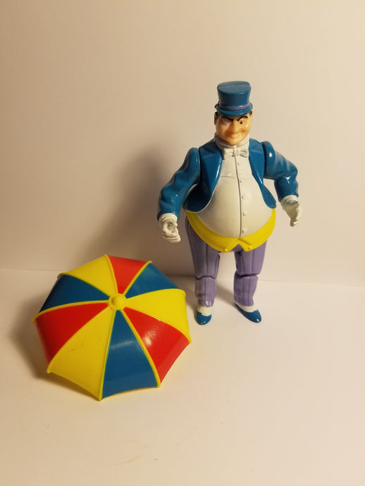 1989 Loose The Penguin Umbrella Firing Action Figure